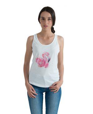 La Gatta Diva moe moe canotta Flamingo sostenibile vegan Cotone organico