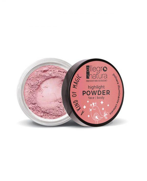 La Gatta Diva Allegro Natura cosmesi sostenibile bio green vegan pigmenti illuminanti in polvere per viso e corpo pink