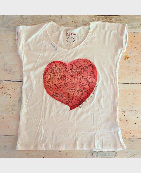 La gatta diva la mia maglietta cosa ce dentro il cuore vegan green ecosostenibile cotone organico biologico