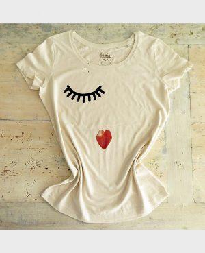 La Gatta Diva la mia maglietta t-shirt non si vede bene che con il cuore vegan green ecosostenibile cotone organico biologico