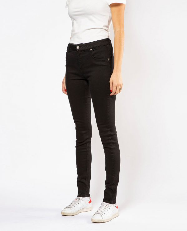 La Gatta Diva green ecosostenibile vegan parco jeans denim fresia skinny nero cotone organico biologico