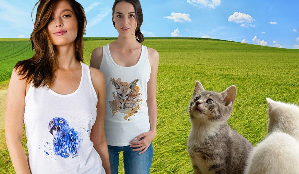 Thsirt moe moe La gatta diva green ecosostenibile abbigliamento e benessere