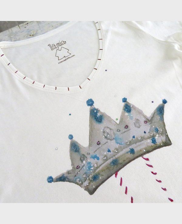 La Gatta Diva la mia maglietta t-shirt la regina vegan green ecosostenibile cotone organico biologico