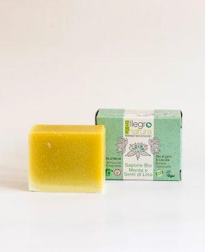 La Gatta Diva Allegro Natura cosmesi sostenibile bio green vegan sapone bio menta e semi di lino