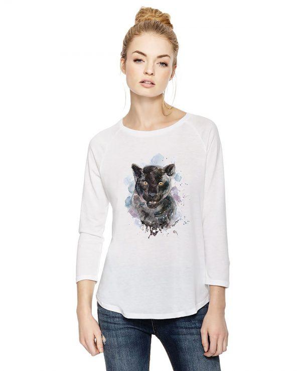 La Gatta Diva moe moe t-shirt manica lunga Pantera sostenibile vegan Cotone organico Tencel Lyocell pelle sensibile