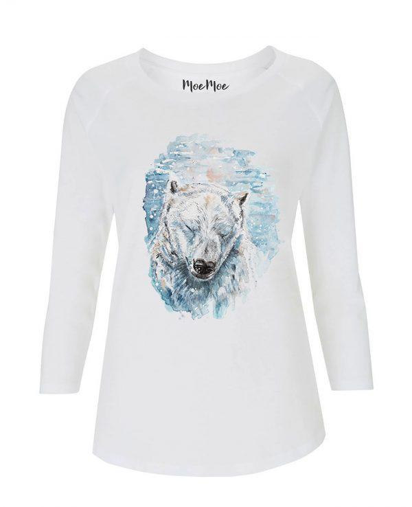 La Gatta Diva moe moe t-shirt manica lunga Orso Polare sostenibile vegan Cotone organico Tencel Lyocell pelle sensibile