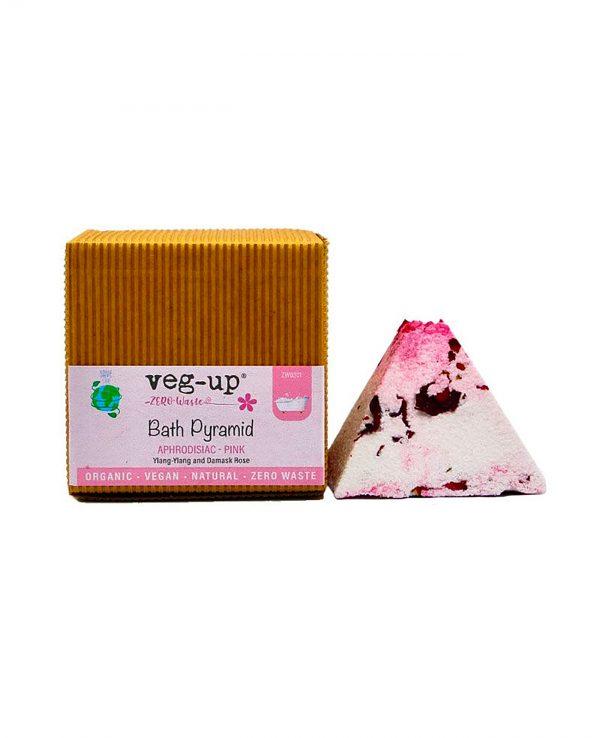 vegup piramide effervescente balneoterapia afrodisiaca rosa cosmetici bagno ecosostenibile