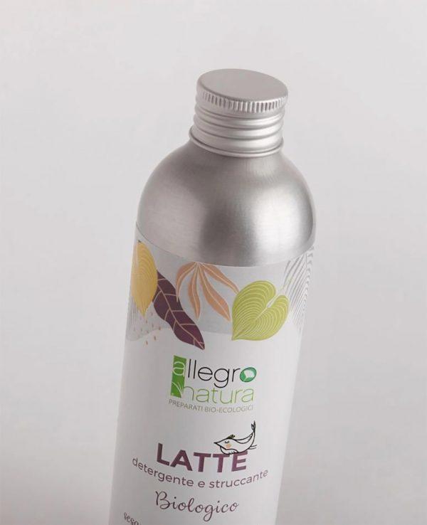 latte detergente struccante viso allegro natura