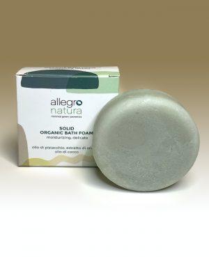solid organic bath foam allegro natura
